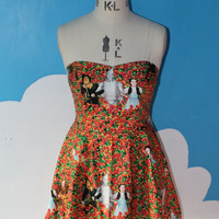 wizard of Oz poppies sweet heart dress - all sizes