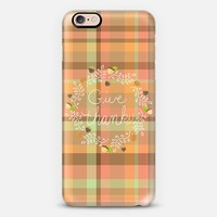 Give Thanks Autumn Plaid iPhone 6s case by Lisa Argyropoulos | Casetify
