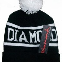 Diamond Supply Co Beanie Hats (Black and White)