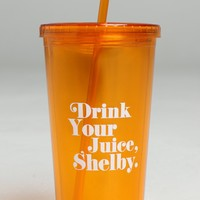 Drink Your Juice Shelby Iced Tumbler With Straw