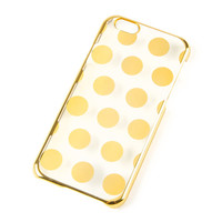 Gold Metallic Polka Dot Cover for iPhone 6
