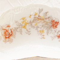 Antique Carlsbad Bone Dishes, Set of 3, Tea Party, Wedding, Austria, Cottage Style, Ca. 1800's