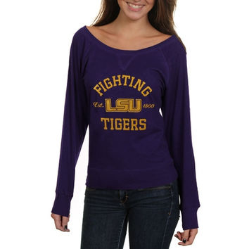 LSU Tigers Ladies Veruca Long Sleeve Slub T-Shirt - Purple