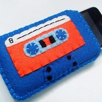 Cassette Tape iPhone Cozy by yummypocket on Etsy