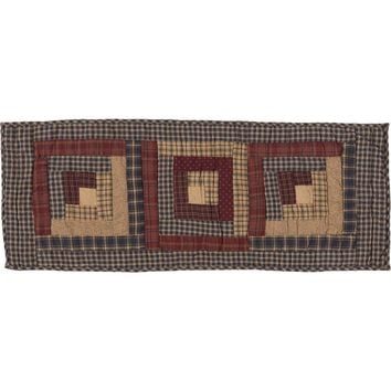 Millsboro Runner Log Cabin Block Quilted 13x36