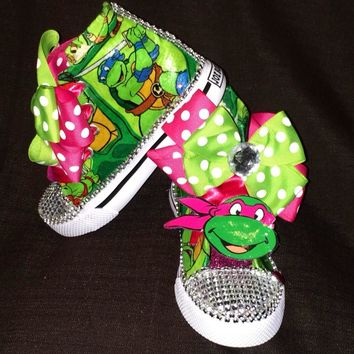 Birthday Ninja Turtle Girls Shoe (CONVERSE)