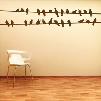 Bird Wire Wall Decals
