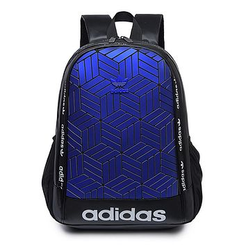 ADIDAS hot selling gradient Mosaic tattoo men's and women's casual shoulder shopping bag #1