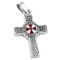 Celtic Knot Red Cross Knights Templar Pendant