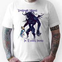 "Darkness Lingers in Every Heart"" Kingdom Hearts Unisex T-Shirt"