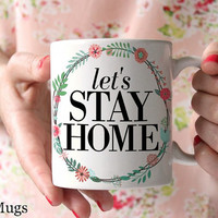 Coffee Mugs with Sayings, Coffee Mugs with Quotes, Pretty Floral Mugs, Housewarming Gifts, Wedding Gifts, Cute Mugs, Ceramic Mugs (Q1111)