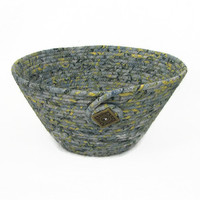 Coiled Fabric Bowl, Basket, Neutral Colors