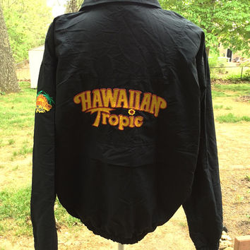 vtg miss Hawaiian Tropic international summer windbreaker jacket sz M