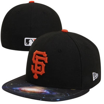 New Era San Francisco Giants 59FIFTY Galaxy Fitted Hat - Black