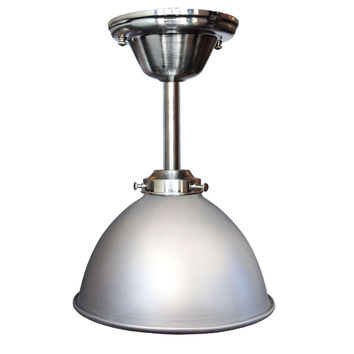 "Factory 7 1/16"" Nickel Metal Pendant Light- Downrod"