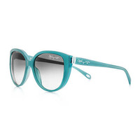 Tiffany & Co. - Tiffany 1837™ cat eye sunglasses in turquoise acetate.