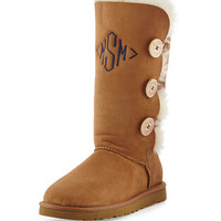 Monogrammed Bailey Button Tall Boot - UGG Australia - Chestnut