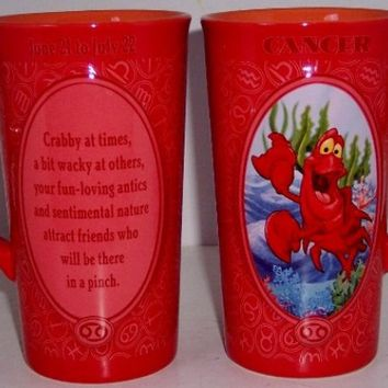 Disney Zodiac Mug (Cancer) - Little Mermaid Coffee Mug (Sebastian)