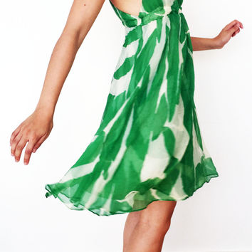 Dvf Green Floral Dress (Diane von Furstenberg)