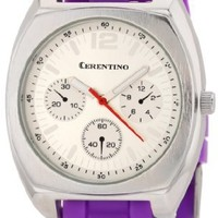 Cerentino Women's RB004 Round Silver Dial Interchangeable Set Silicone Multi-Colored Strap Watch
