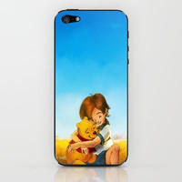 Winnie the Pooh Everything is Right iPhone & iPod Skin by Alice X. Zhang