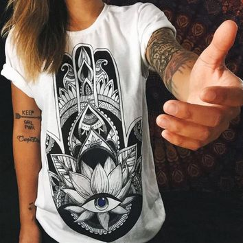 Fashion Digital Printing Short Sleeve Shirt Blouse Tops