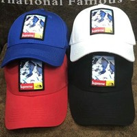 The north face & Supreme Snow Mountain baseball cap F-Great Me Store