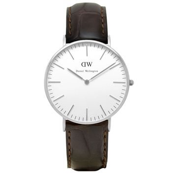 Women's Classic York Watch in Silver by Daniel Wellington