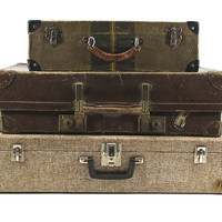 Vintage Suitcase Stack / Old Luggage