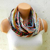 Tribal patterns scarves,Aztec Scarf,infinity Scarf,Loop Scarf, fabric Scarves,Cowl Scarf,Nomad Cowl.eternity Scarf