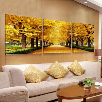 3 Piece Flower Paintings Canvas Hd Print Wall Art Oil Modular Pictures Abstract Orchid Painting Modern Picture Cuadros Obrazy No