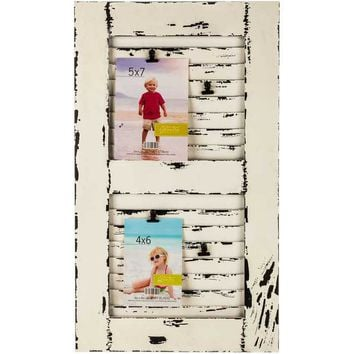 white shutter collage frame with clips hobby lobby