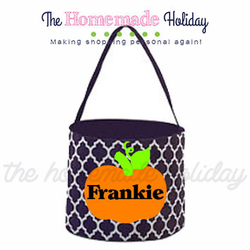 Personalized Pumpkin Trick or Treat Halloween Bags