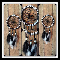 Zebra Dreamcatcher for your REARVIEW MIRROR by OliviaSueDesigns