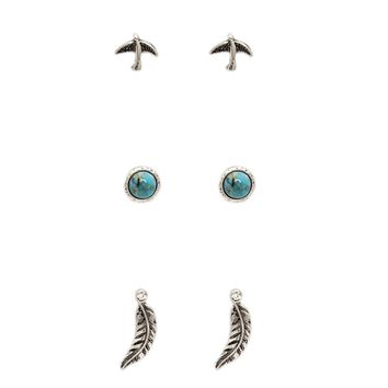 Feather Stud Set