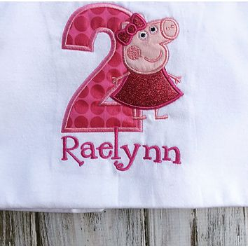 Peppa Pig 2nd birthday shirt