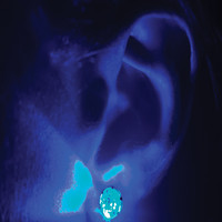 Blue Cute Light Up Rave Earrings