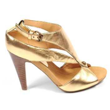 Nine West Womens Ankle Strap Sandal NWSWISH GOLD