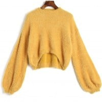 High Low Mohair Sweater
