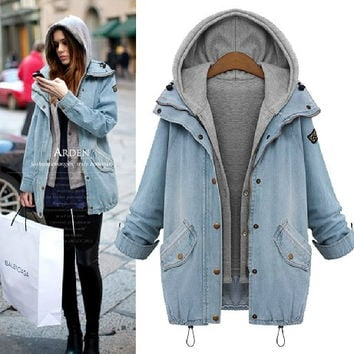 Women Basic Denim Jackets