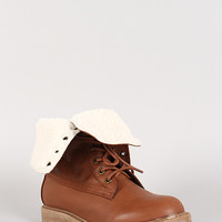 Fold-Over Shearling Hiking Boot
