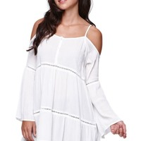 Kendall & Kylie Cold Shoulder Tunic - Womens Shirts