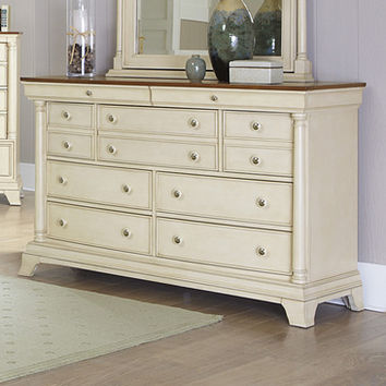Homelegance Inglewood II 7 Drawer Dresser in Antique White