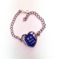 Doctor Who Bad Wolf Tardis Heart Bracelet