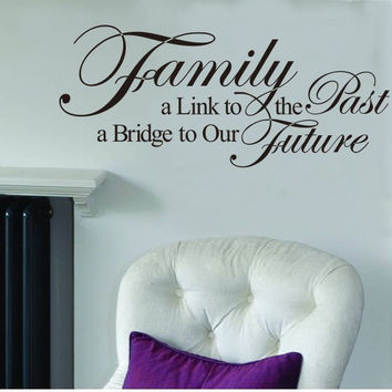 Fashion Decals Family Letters Room Decor Black Vinyl Wall Sticker SM6