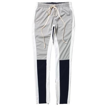 Color Block Track Pants Grey / Navy