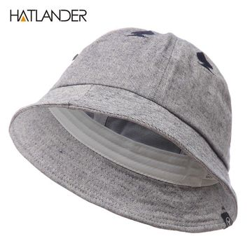 Autumn hat cap for women men sports caps casual Ace Embroidery cotton bucket hats