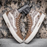 Trendsetter Vans Syndicate SK8 Hi Defcon Camouflage Canvas Sneakers Sport Shoes