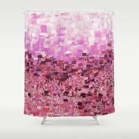 :: Pink Compote :: Shower Curtain by :: GaleStorm Artworks ::