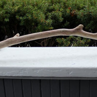 """Single 33"""" Curved Knobby Driftwood branch for Mobiles and Windchimes , DIY Driftwood Supplies"""